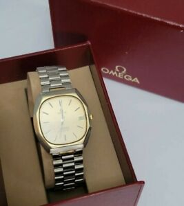 Omega constellation Chronometer 14k solid gold bezel Men watch with box