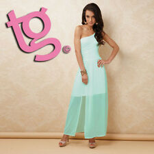 TG Size 12 Aqua Blue One Shoulder Maxi Dress