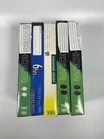 Lot Of 5 Pre-Recorded Mix Label T-120  VHS Tapes Sold As Used Blanks
