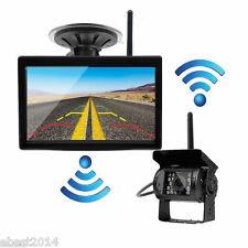 "Wireless Rear View Reverse Parking Camera+5"" Monitor 2xAntenna For Truck Trailer"