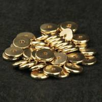 4~10mm Gold Plated Brass Metal Spacer Beads Jewelry Findings Charms