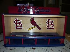 Cardinals display case for bobbleheads or baseball  Dugout style  Pine wood