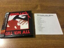 Metallica Kill'em All  (CD, Aug-2006, Mercury)