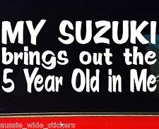 sierra vitara ZOOK 4x4 Funny Stickers 5 Year Old suit SUZUKI 200mm