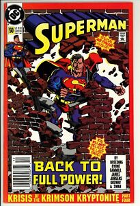 Superman #50 VF- DC (1990) -Unofficial Marvel Crossover -Newsstand