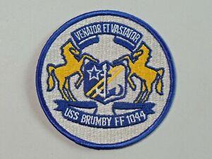 Vintage U.S. Navy Ship Patch Venator Et Vastator USS Brumby FF 1044 Round 4634