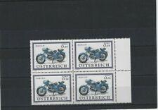 Österreich MiNr. 2398 Motorräder (I) Puch 175 SV Pf. 4er-Block