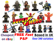 Minifigures Super Hero Mini figures Marvel + FREE LEGO BRICK UK Superheroes TOY