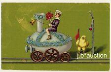 Easter Ostern EGG LOCOMOTIVE DRESSED ANIMAL CHICK / KÜKEN EI EISENBAHN * 10s PC