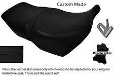 Negro Stitch Personalizado Para Bmw K75 de lija K100 largo real de piel cubierta de asiento