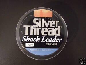 2 PK - SILVER THREAD 20 POUND FISHING SHOCK LEADER - 55 YDS.