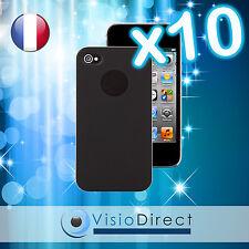 Lot de 10 Coque Housse Etui de protection rigide pour iPhone 4 4S couleur noir