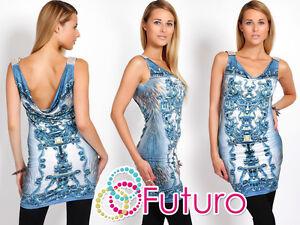 Exclusive High Quality Mini Dress V Neck Flower Motive Sleeveless Tunic FC2951