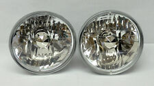 "7"" Round Halogen Semi Sealed H4 Crystal Clear Headlight Conversion w/ Bulbs Plym"