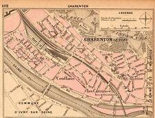 94 CHARENTON LE PONT PLAN DE LA VILLE MAP IMAGE 1902