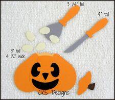 Die Cut Fall Pumpkin Carving Tools Halloween Scrapbook Page Paper Piecing CKS