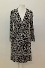 DIANE VON FURSTENBERG Ladies Multi-coloured Silk 3/4 Sleeve Wrap Dress US4 UK8