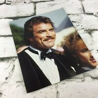 "Vintage Tom Selleck Photograph 8""X10"" Glossy Collectible Celebrity Black Tie"