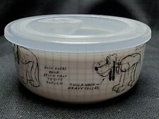 New listing Disney Mickey Mouse Pluto Sketchbook Covered Bowl w/Air Tight Lid Sz Small New