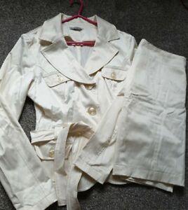 Ladies Cream Workwear Suit size 14