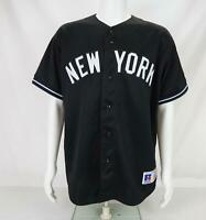Russell Athletic Men's New York Yankees Baseball Jersey Black Size Large