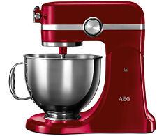 AEG Ultramix Küchenmaschine - KM54WR - Rot - 1000W - Inkl. Zubehör