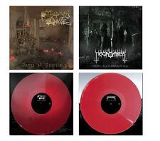 Mortuary Drape / Necromass - Split ++ LP, RED VINYL ++ NEU !!