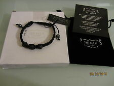 BNWT Shimla 3 x black crystal bead adjustable bracelet - RRP £40.00