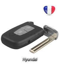 plip coque clé Hyundai Tucson I10 I20 I30 I40 IX 30 IX35 2 boutons + lame vierge