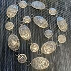 "Sterling Silver STORY TELLER LINK CONCHO BELT  38"" Makers Mark Rare Images"
