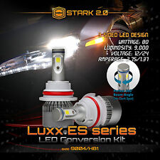 Stark 80W 9000LM Flip COB Chip LED Kit 6000K Headlight Hi / Lo - 9004 HB1
