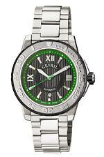 Gevril Men's 3111B Seacloud Automatic Luminous Stainless Steel Date Wristwatch