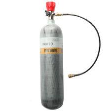 M18x1.5 Thread 4500Psi Tank Pcp Bottle Carbon Fiber Scba Air Cylinder With Valve