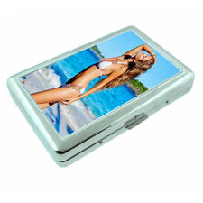 Belize Pin Up Girls D3 Silver Metal Cigarette Case RFID Protection Wallet