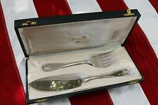 CHRISTOFLE VENDOME SILVERPLATE FISH SERVING SET 2 PIECES ( KNIFE & FORK )