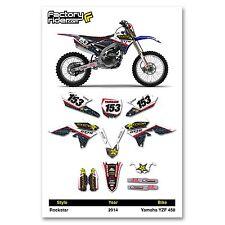 2014 YAMAHA YZF 450 Team Rockstar Motocross Dirt Bike Graphics kit Decal
