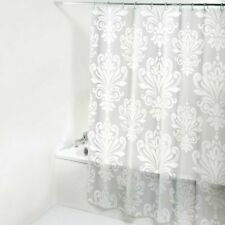 3D Translucence Bath Curtain Floral Printed PEVA Waterproof Shower Chic Hook New