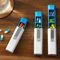 Tragbarer Pillendose-Behälter-Fall-Vitamin-Medizin-Drogen-Make-up gesundes S  ML