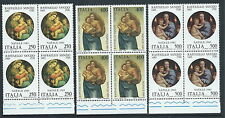 1983 ITALIA NATALE RAFFAELLO SANZIO QUARTINA MNH ** - ED
