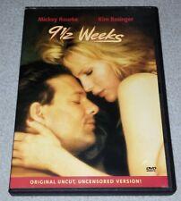 9 1/2 Weeks (DVD, Directors Cut Uncut, Uncensored Version) *RARE opp