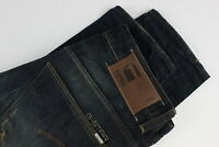 G-STAR RAW 3301 LOW TAPERED Men's W33/L34 Dirty Look Ripped Slim Jeans 31838_GS