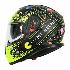 MT THUNDER 3 SV ONE (PAC-MAN) WHITE/ YELLOW FULL FACE MOTORCYCLE HELMET SIZE S