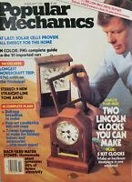 Popular Mechanics Magazine Feb 1981 Lincoln Clocks - Hovercraft - Solar NoML VG