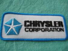 """Chrysler Corporation  Patch Patch 4 3/4 """" X 2"""""""