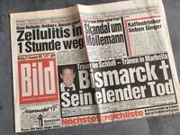 Bildzeitung BILD 21.12.1992 * Geschenk  26. 27. 28. 29. 30. Geburtstag B-Day