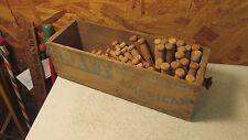 Antique Kraft Wood Cheese Box &  50 Wood Clothespins