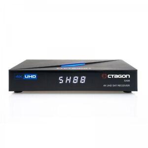 Octagon SX88 4K UHD S2+IP HDMI USB Kartenleser H.265 TV IP Mediaplayer Schwarz