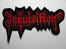 INQUISITION  RED SHAPED LOGO  EMBROIDERED PATCH
