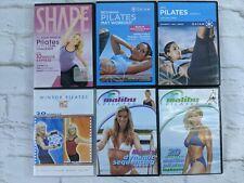 Pilates Exercise DVDS Lot of 6 Gaiam Mari Windsor Malibu Ana Can Carroll Krieff