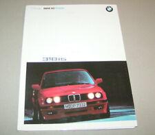 Pressemappe / presskit   BMW 3er Reihe E 30 - BMW 318is   Ausgabe 1989